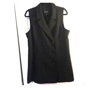 Long length double breasted vest